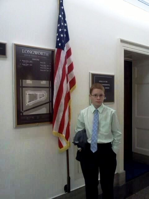 Sean Music (Independence, IA) visits the Longworth House Office Building
