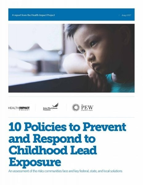 10 Policies to Prevent and Respond to Childhood Lead Exposure