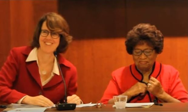 Julie Kruse and Dr. Joycelyn Elders
