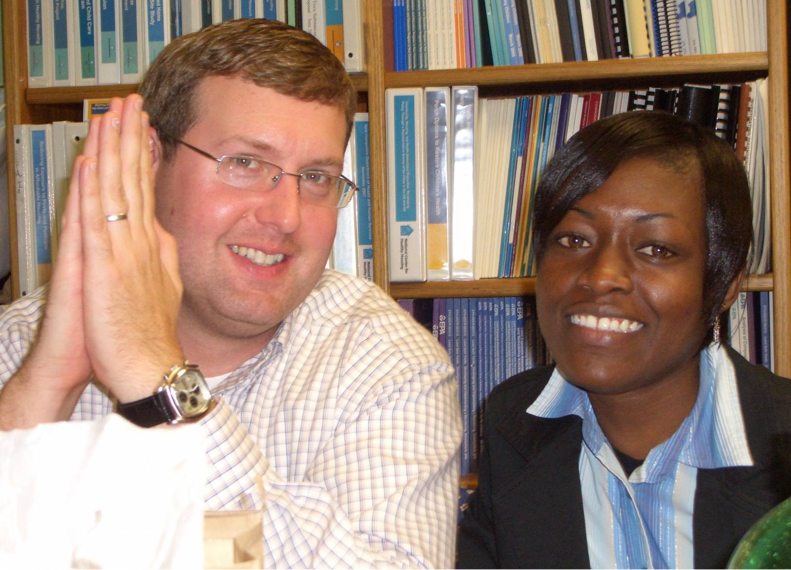 Phillip Dodge and Judith Akoto
