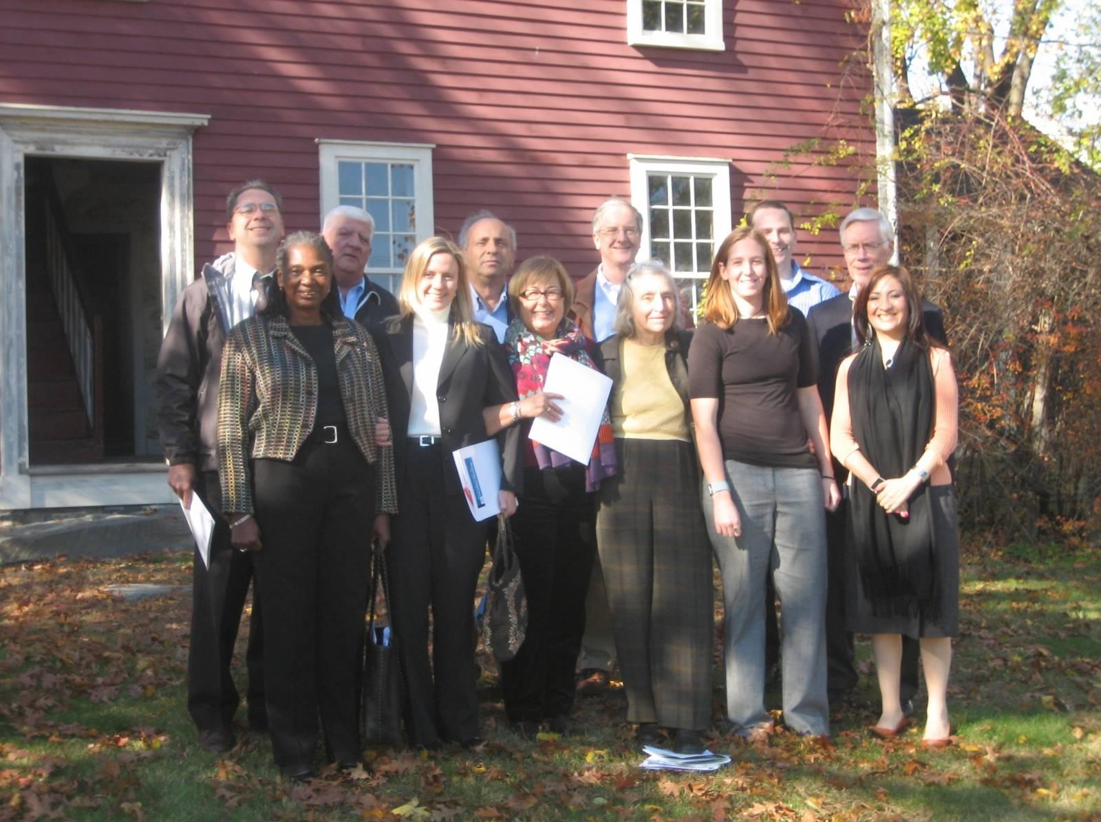 Rebecca Morley, Ruth Lindberg, and board