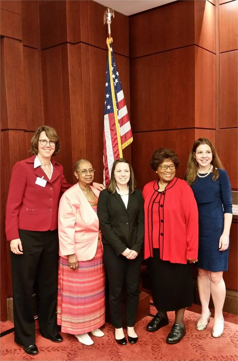 Julie Kruse, Erma Taylor, Kelleigh Eastman, Joycelyn Elders, and Amanda Reddy