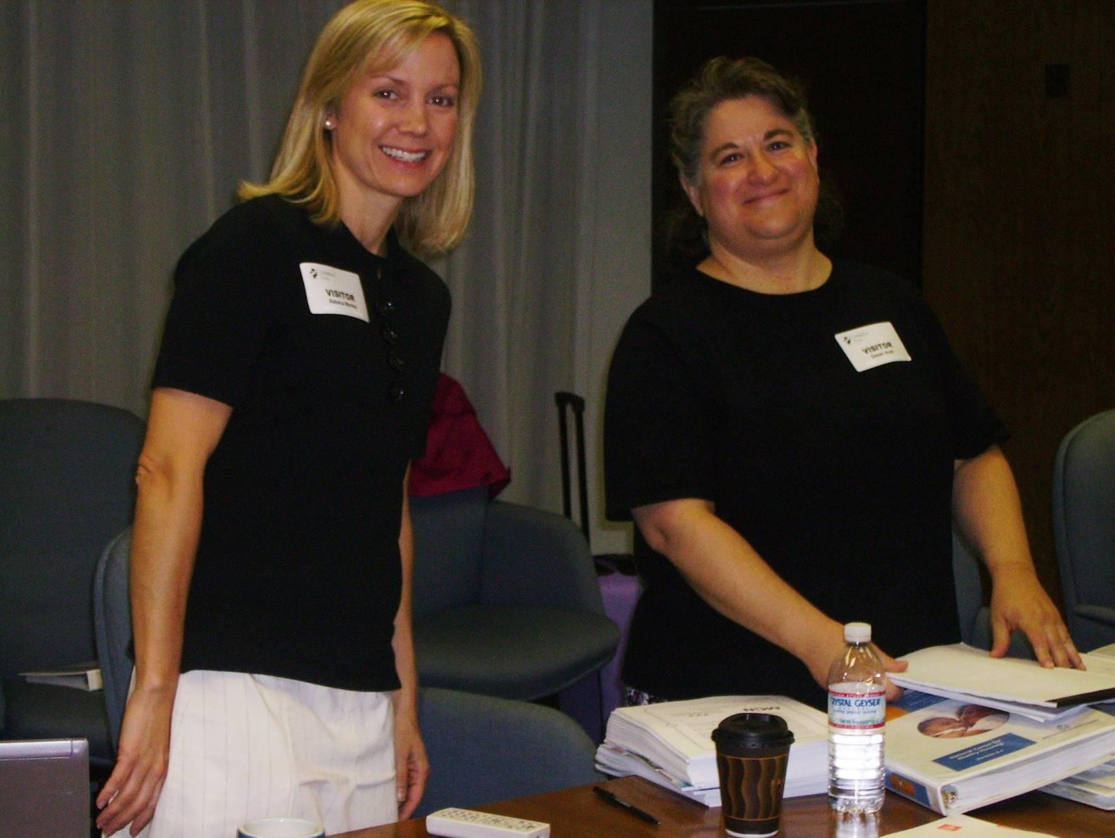 Rebecca Morley and Susan Aceti