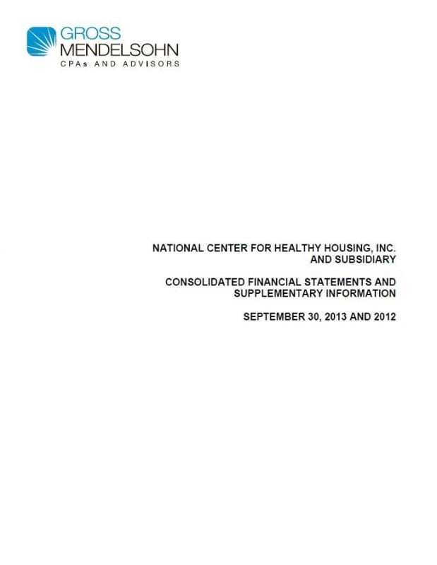 NCHH and Solutions Financial Statements, 2013 (FY13)