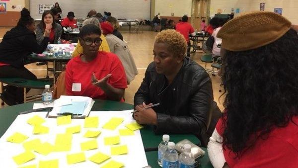 Lisa Matthews Facilitates at the Community Speak Out