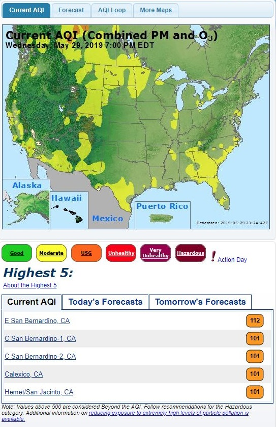 EPA's Air Now Website (Detail)
