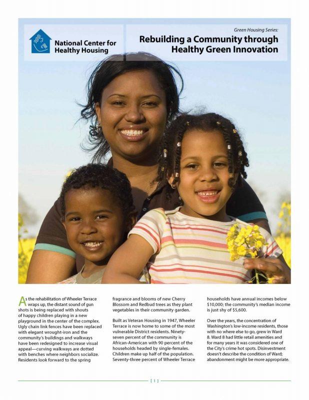 Green Housing Series: Rebuilding a Community through Healthy Green Innovation [Wheeler Terrace]
