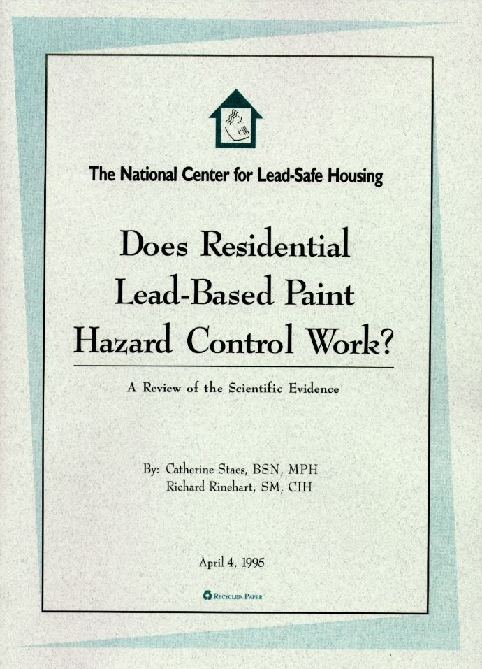Does Residential Lead-Based Paint Hazard Control Work? A Review of the Scientific Evidence