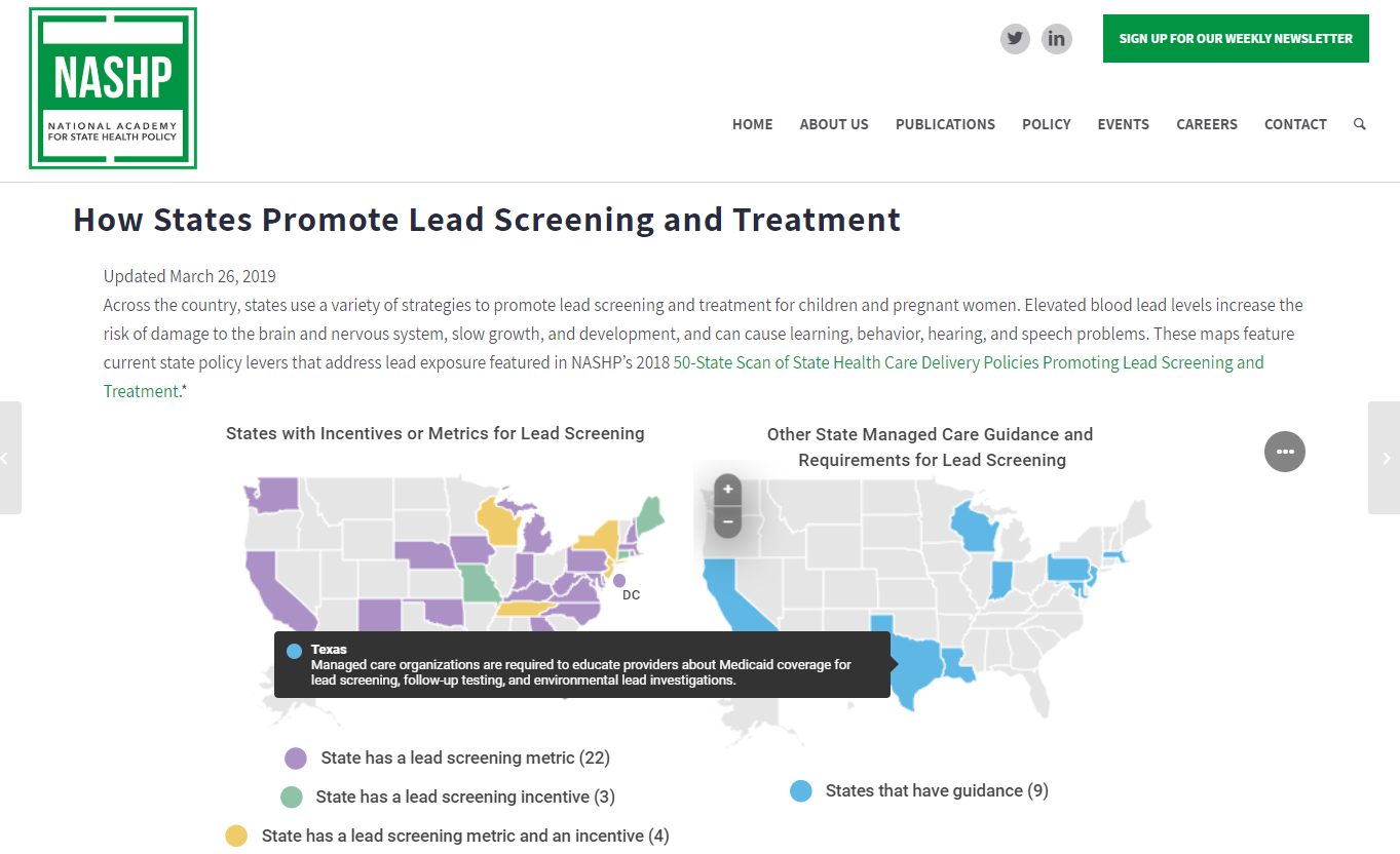 How States Promote Lead Screening and Treatment