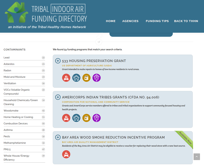 Tribal Indoor Air Funding Directory