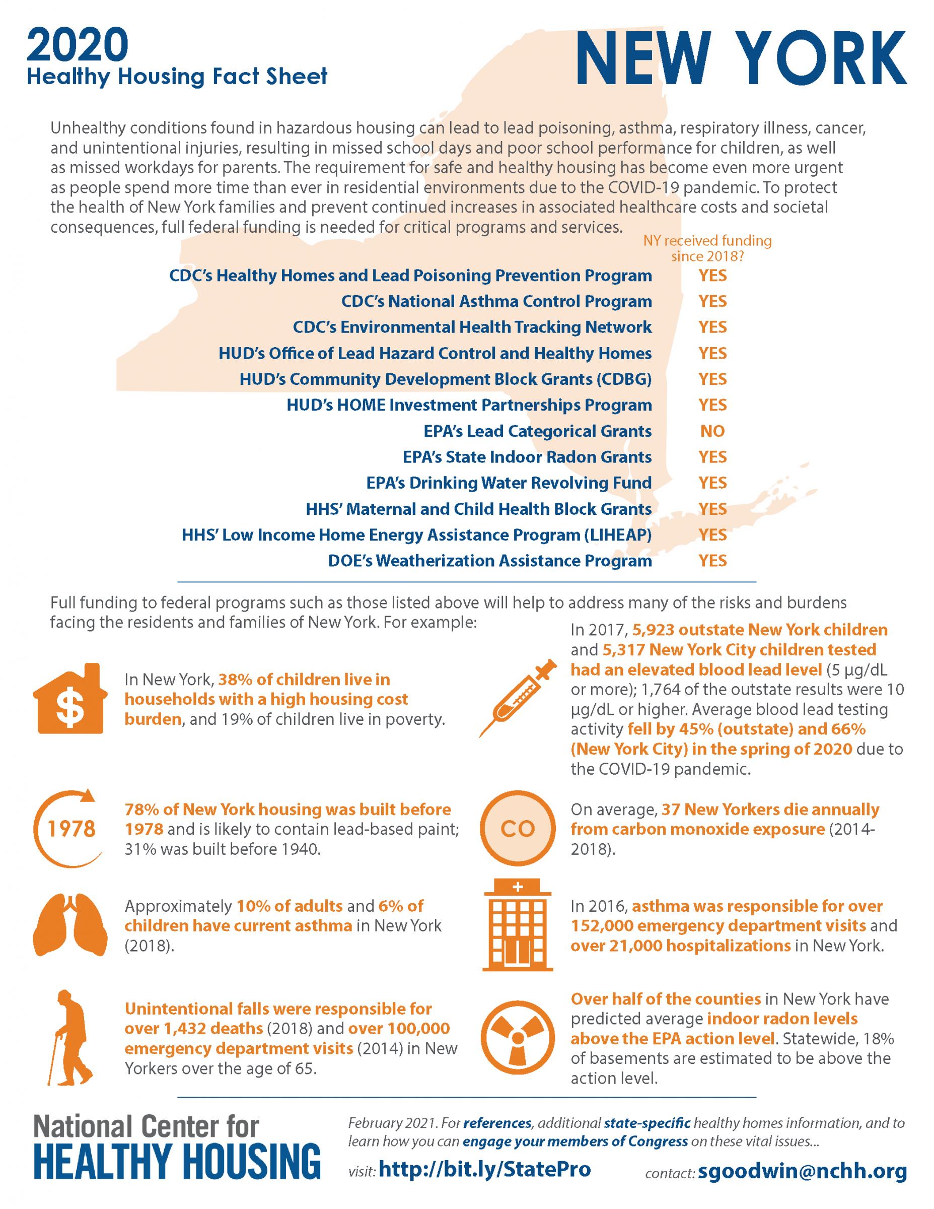 Healthy Housing Fact Sheet - New York 2020