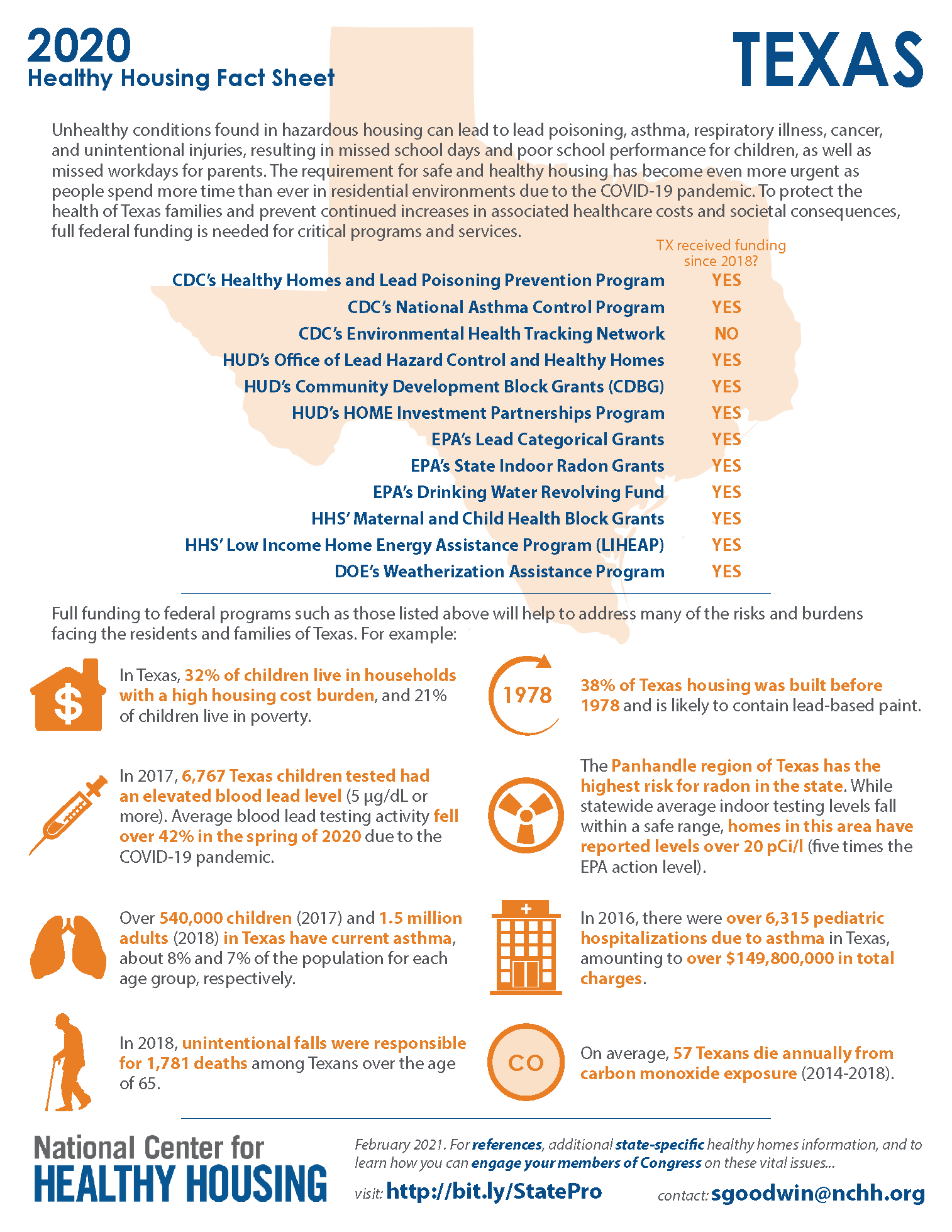 Healthy Housing Fact Sheet - Texas 2020