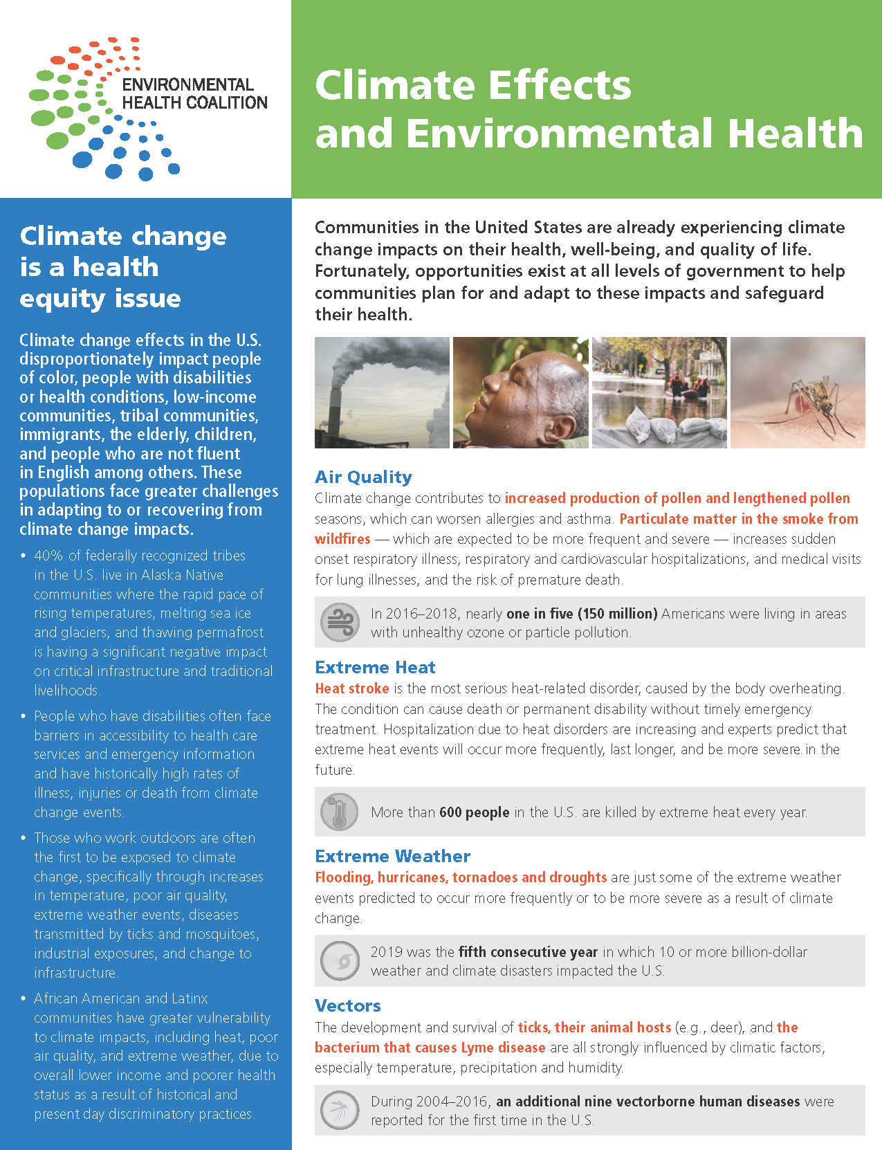 Climate Effects and Environmental Health