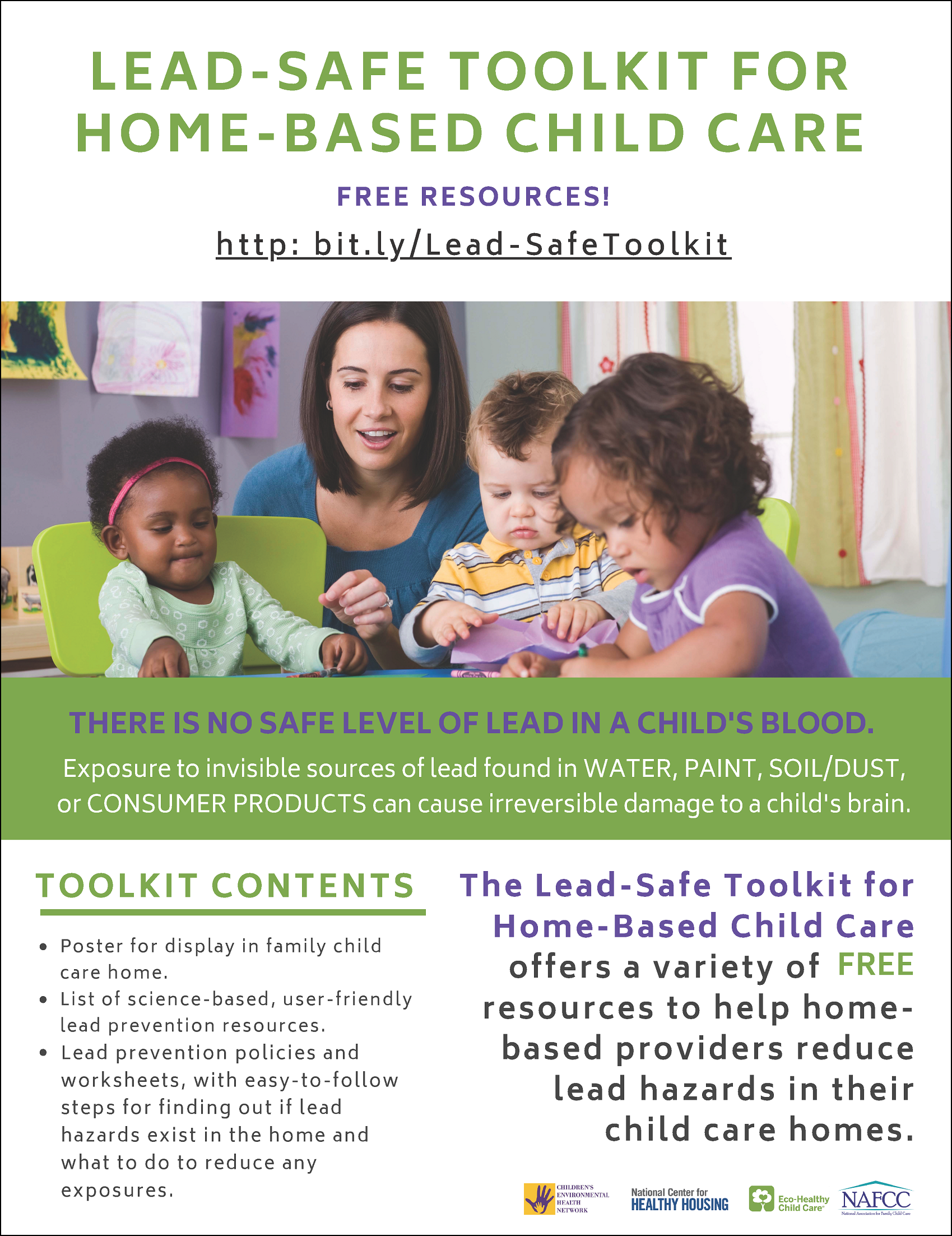 Lead-Safe Toolkit for Home-Based Child Care Promotional Flyer
