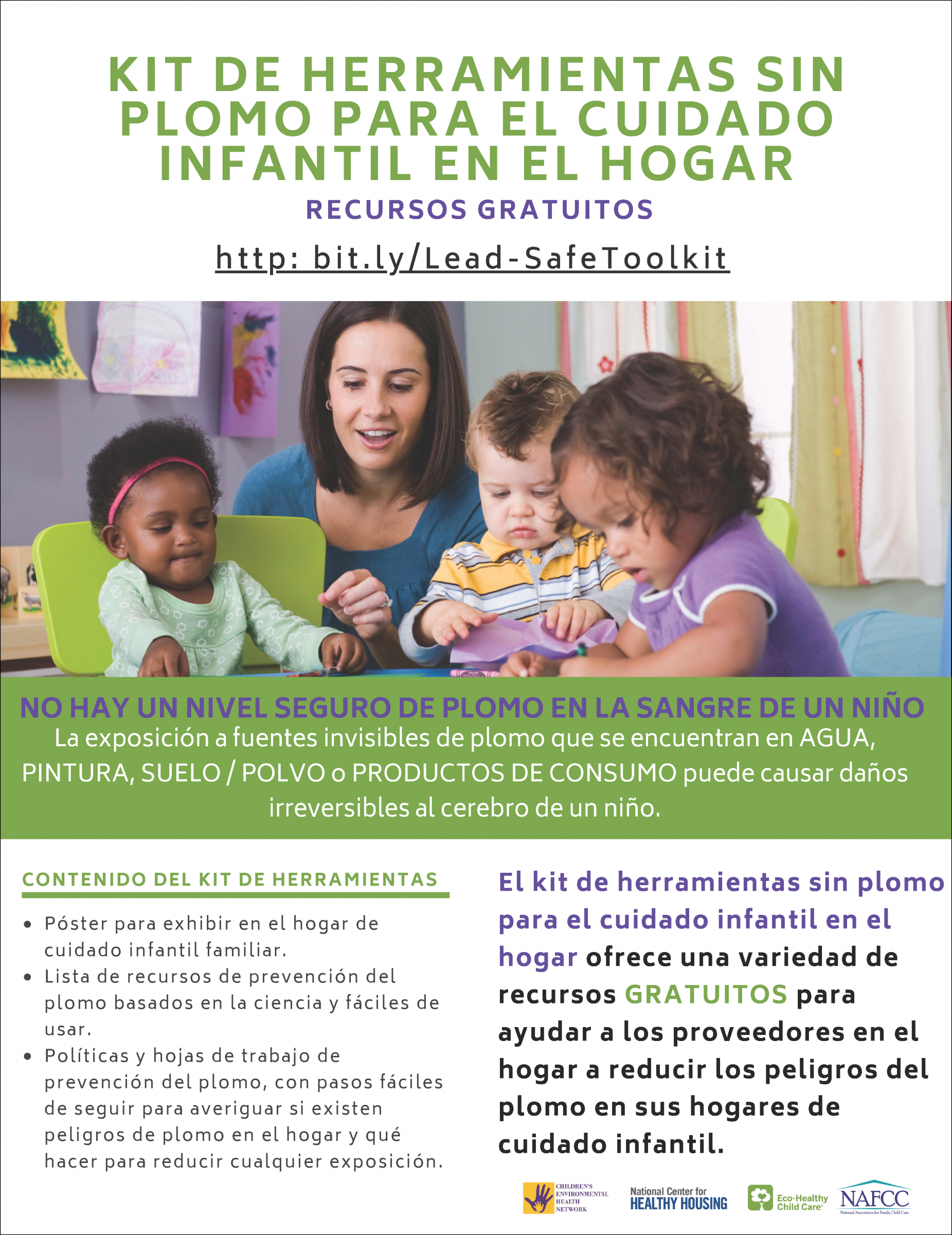 Lead-Safe Toolkit for Home-Based Child Care – Flyer (Spanish)